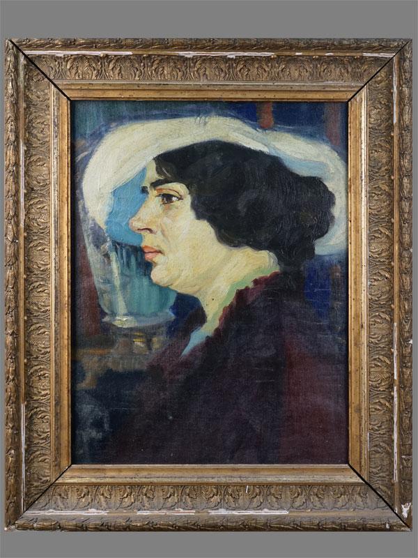 Антиквариат. Карев, В. «Женский портрет»