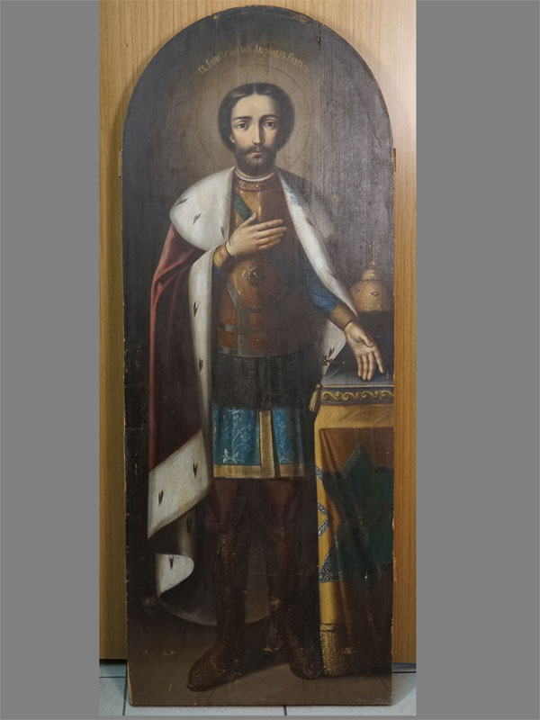 Антиквариат. Икона Святой Александр Невский