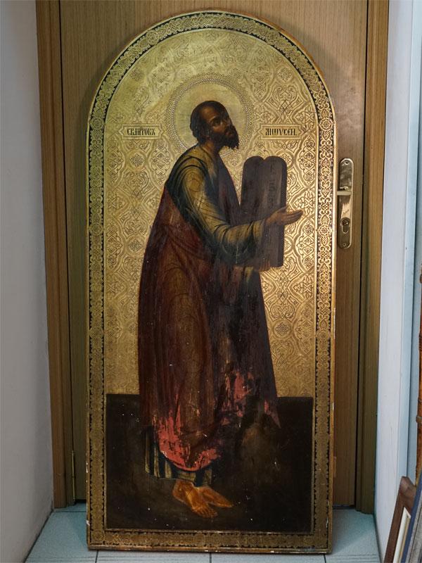 Антиквариат. Икона Святой Пророк Моисей
