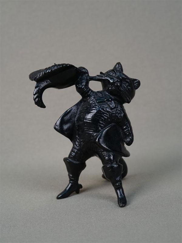 Подсвечник «Кот вСапогах», чугун, литье, покраска, высота— 9см