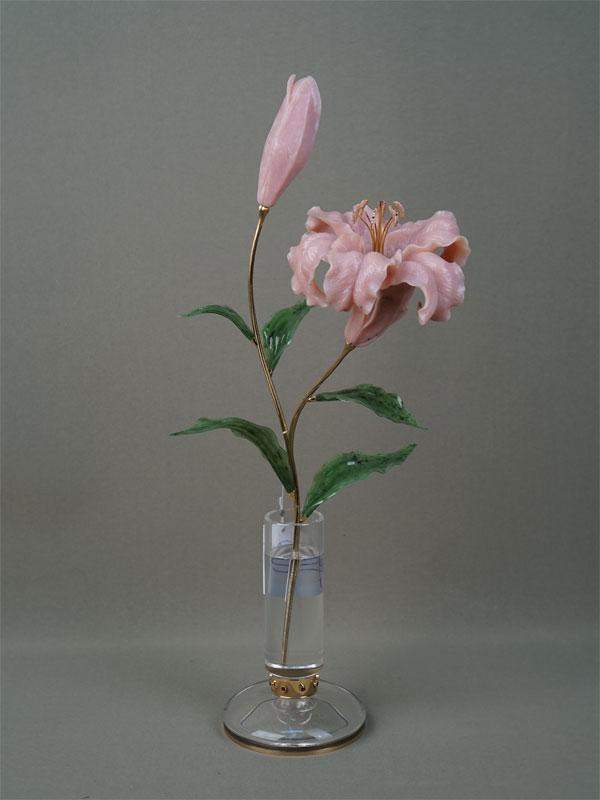 Антиквариат. «Лилия в вазе», резьба, золото