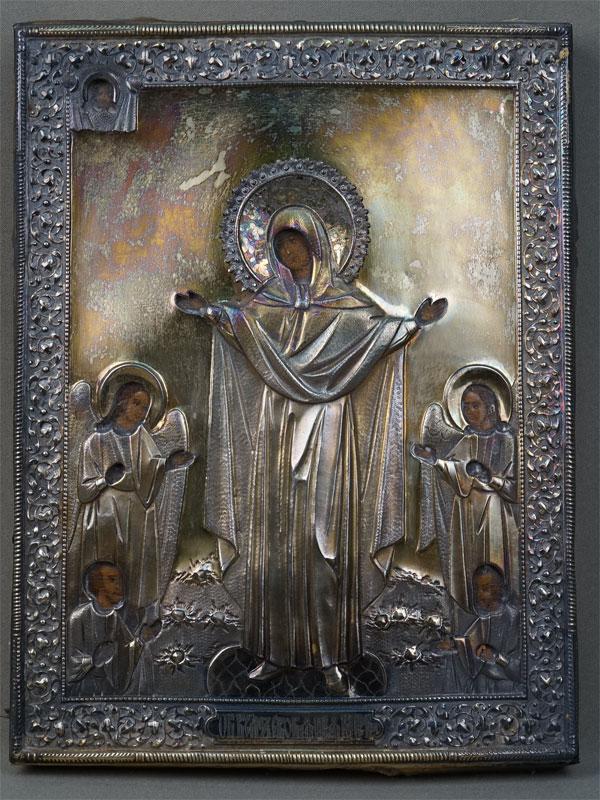 Антиквариат. Икона Пресвятая Богородица Всех Скорбящих Радость