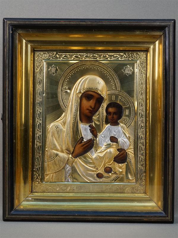 Антиквариат. Икона Пресвятая Богородица Иверская