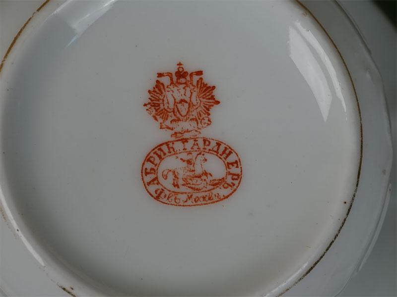 Чайная пара, фарфор, роспись. Завод Гарднера, начало XXвека