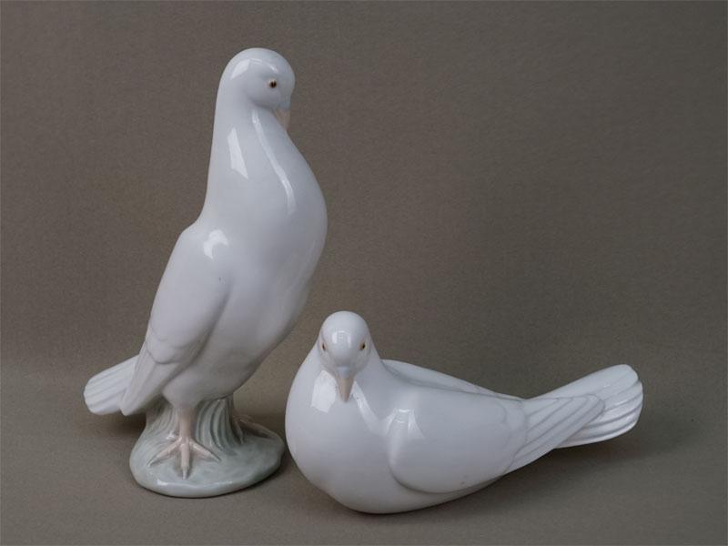 Пара скульптур «Голуби», фарфор, роспись. Испания, вторая половина XXвека