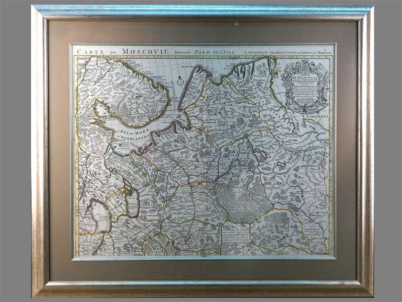 Антиквариат. Карта Северная Россия