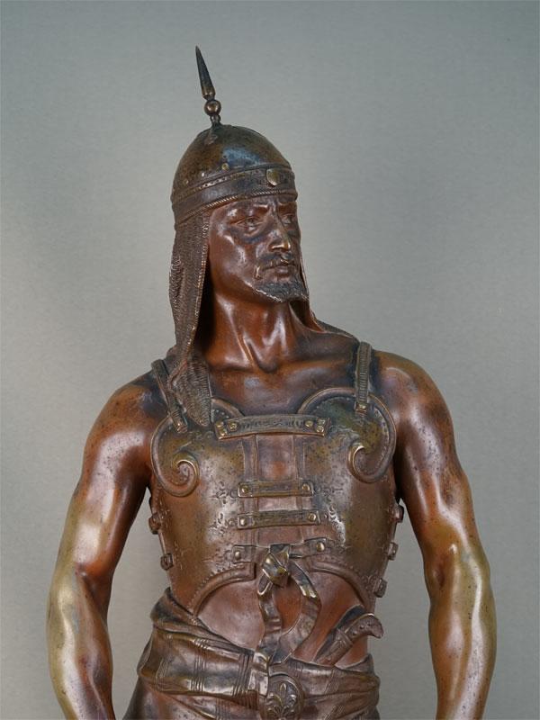 Скульптура «Эмир», бронза, литье, патинирование. Париж,  1880-90 годы, высота 85см, автор Georges Ch. Coudray. Атрибуция.