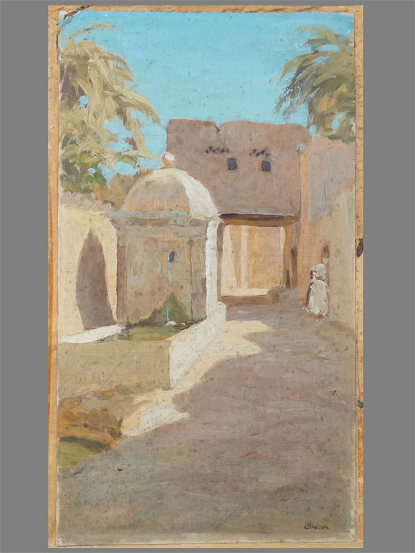 Антиквариат. Пищалкин Л.Ф. «Арабский поселок» восток ислам араб