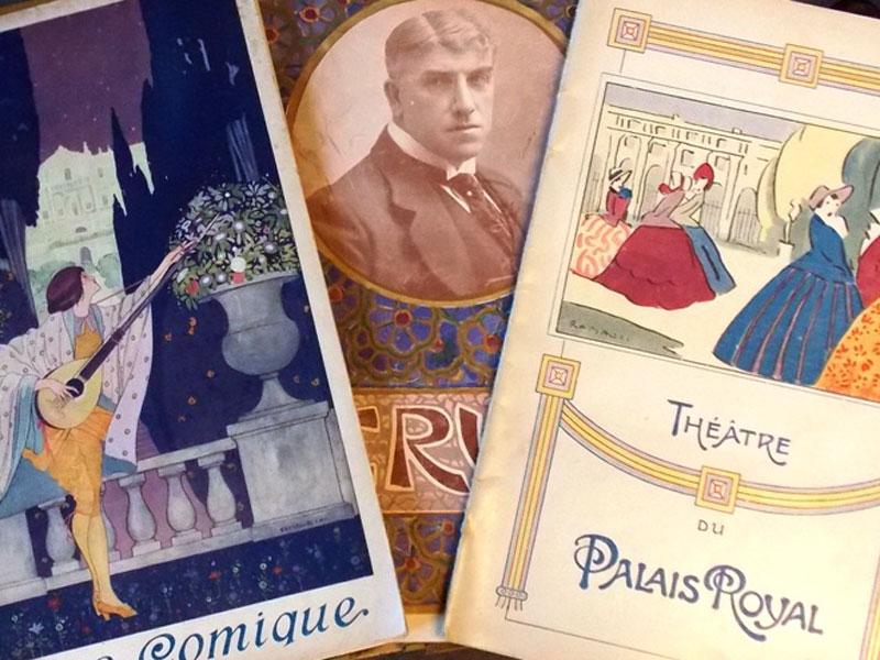 Программы Театра Пале-Рояль иОпера-Комик вПариже. Рекламные буклеты. 1910-20гг. <p>Цена за три буклета.</p>