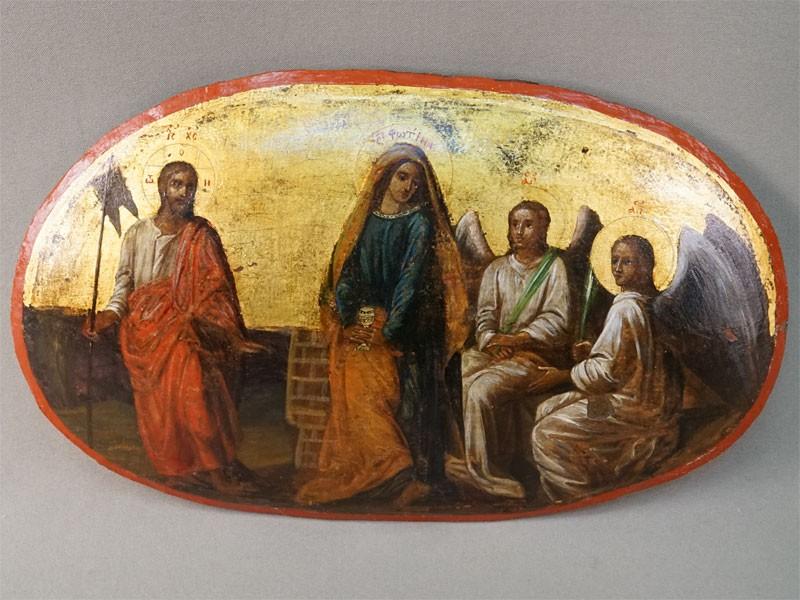 Икона «Святая Фотина (Светлана)», дерево, масло, XIXвек, 19×31см