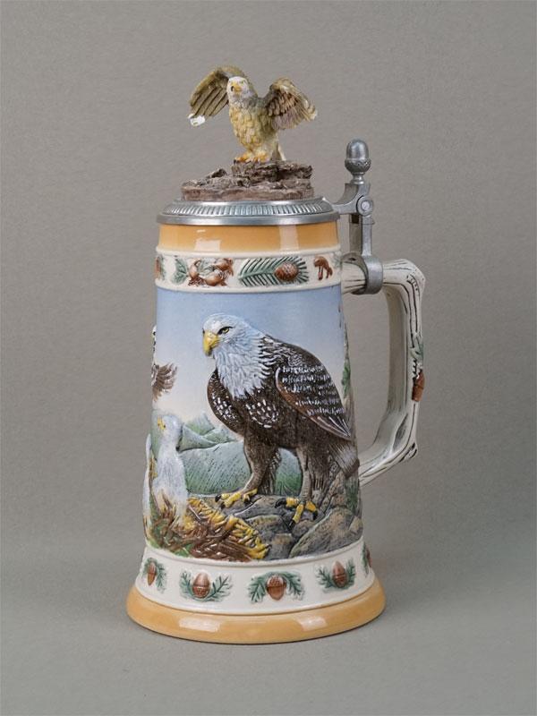 Антиквариат. Кружка пивная орел семья