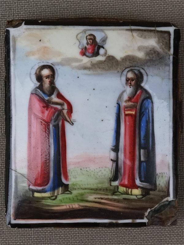 Антиквариат. Икона Святой Блаженный Князь Василий  Князь Константин Ярославский