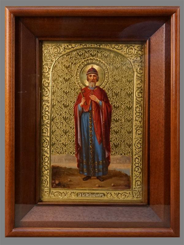 Антиквариат. Икона «Святой Равноапостольный Князь Владимир»
