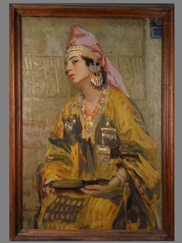 Антиквариат. Куренной А. Портрет восток Азия