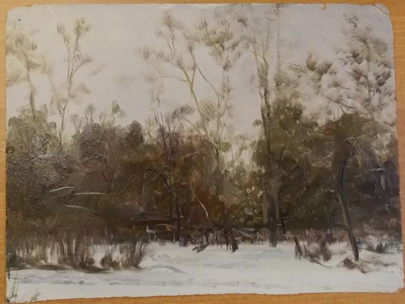Антиквариат. Горелов, Р., «Зима» пейзаж