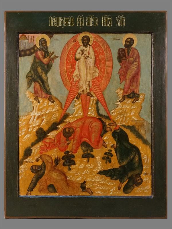 Икона «Преображение Господне», дерево, левкас, темпера, 67×52см. Москва, Оружейная палата, вторая половина XVIIвека.