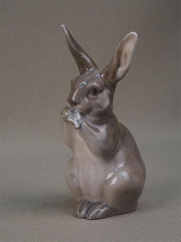 Антиквариат. «Заяц», фарфор Копенгаген