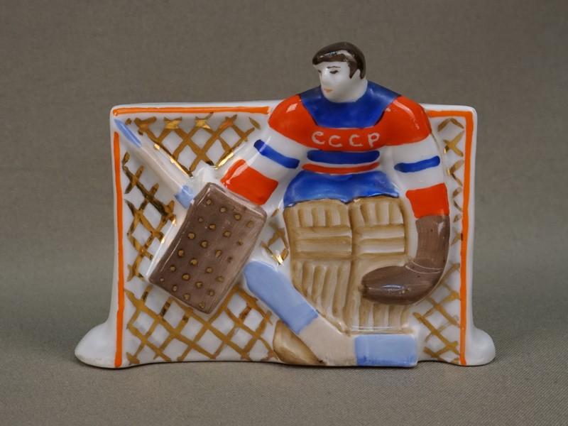 Антиквариат. Вратарь В.Третьяк хоккей хоккеист спорт