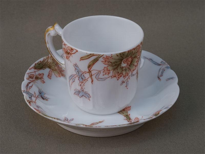 Антиквариат. Кофейная чашка, фарфор, Limoges