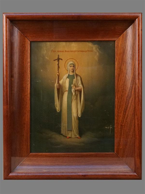 Антиквариат. Икона Святая Равноапостольная Нина. Грузия