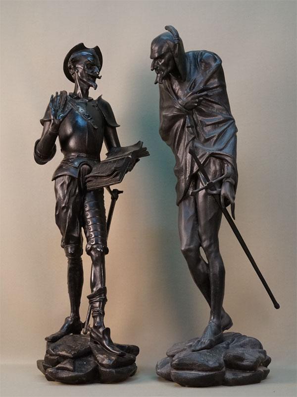 Антиквариат. скульптура Дон Кихот и Мефистофель Каслинское литье