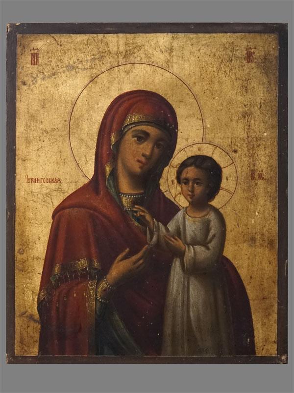 Антиквариат. Икона «Пресвятая Богородица Черниговская» Афон
