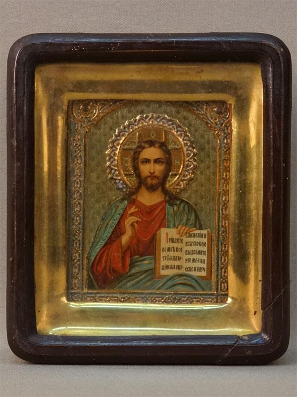Антиквариат. Икона Господь Вседержитель