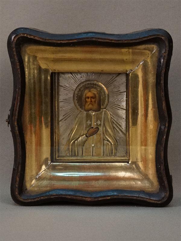 Антиквариат. Икона Святой Преподобный Серафим Саровский