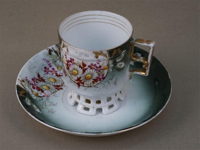 Антиквариат. Чайная чашка, фарфор, М.С.Кузнецов