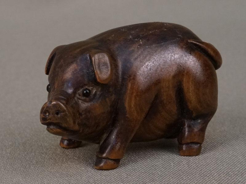 Антиквариат. Нэцкэ Свинья поросенок свинка