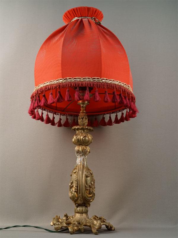 Антиквариат. Лампа настольная, бронза