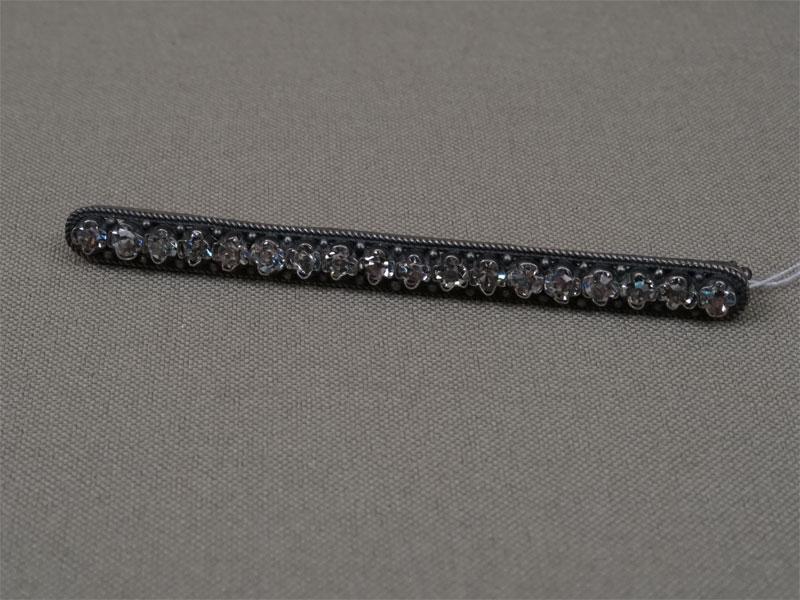 Брошь, серебро 875пробы, вставки: стекла, общий вес— 5,12г.