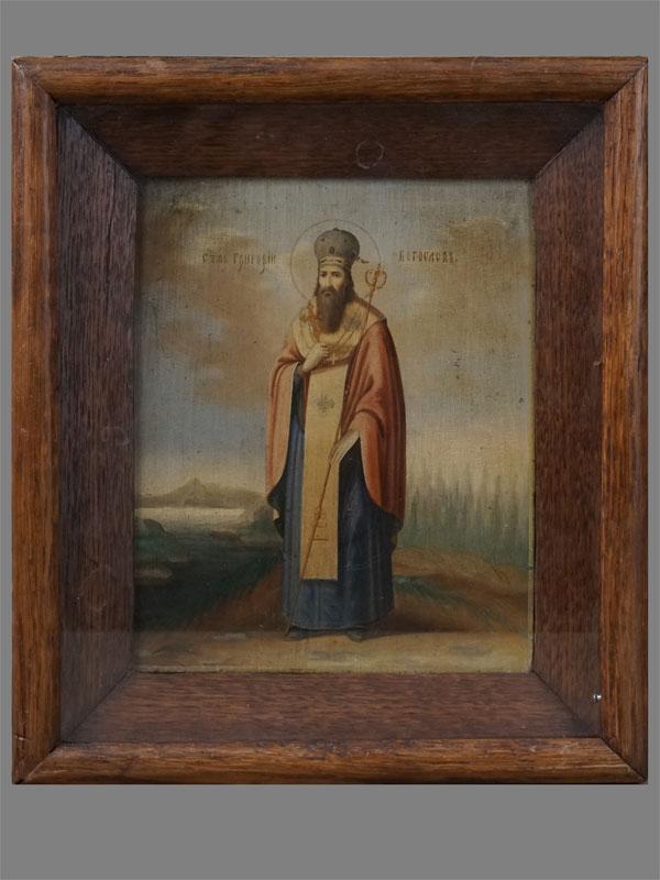 Антиквариат. Икона Святой Григорий Богослов