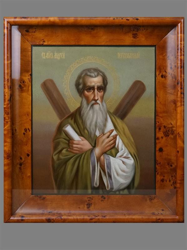 Икона «Святой Апостол Андрей Первозванный», дерево, масло, 35×29см, начало XXвека; киот