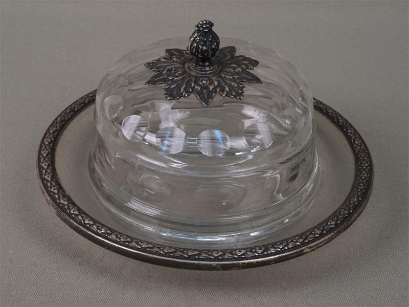 Антиквариат. Икорница, стекло, серебро