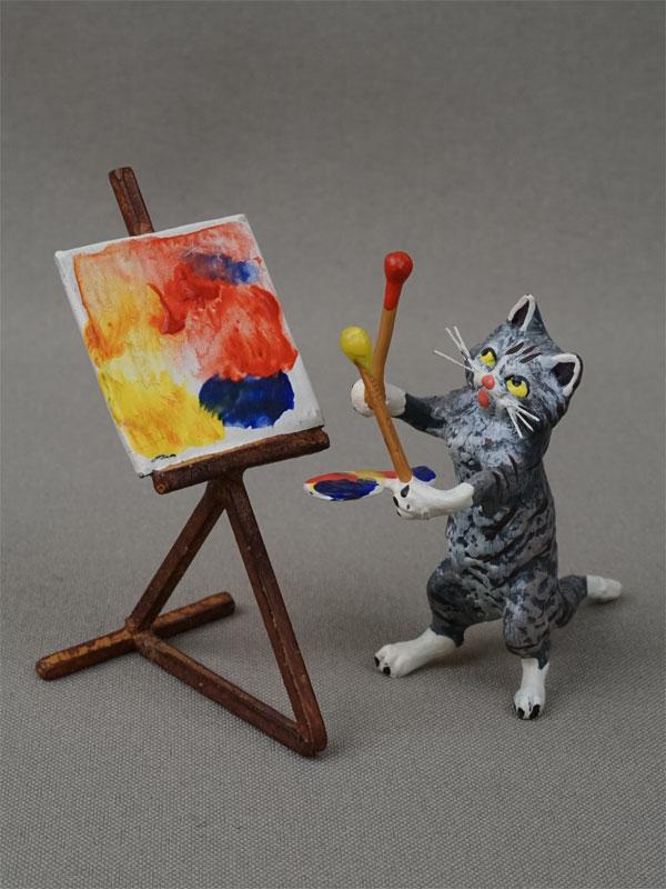 Антиквариат. Кошка. художник, венская бронза