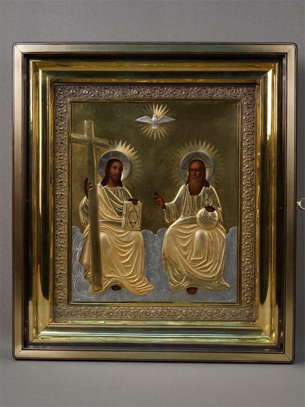 Антиквариат. Икона Троица Новозаветная