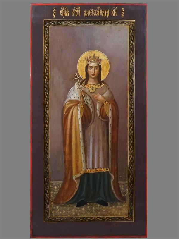 Антиквариат. Икона Святая мученица Александра