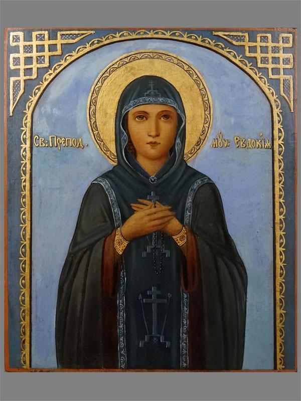 Антиквариат. Икона Святая Преподобная Евдокия
