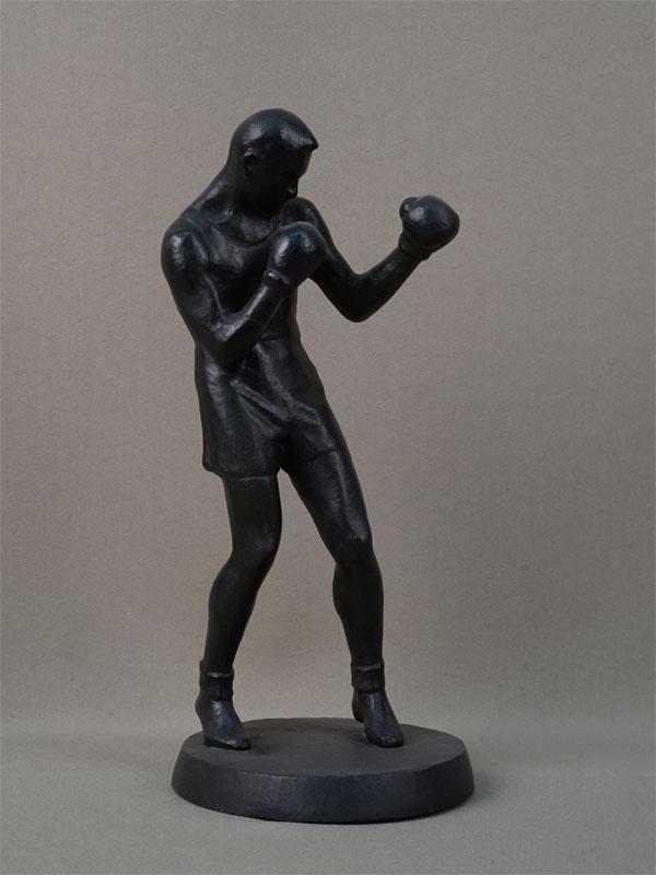 «Боксер», чугун, литье, покраска, клеймо Касли, 1957год, высота— 25см