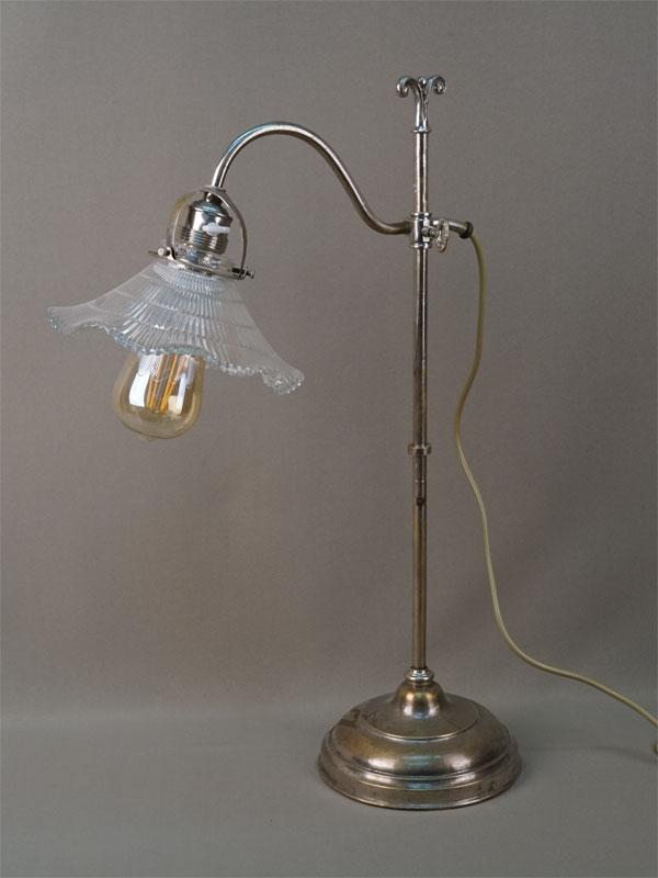 Лампа настольная сизменяющейся высотой, металл, стекло, начало XXвека