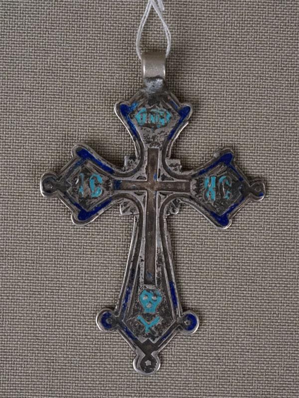 Антиквариат. Крест нательный, серебро
