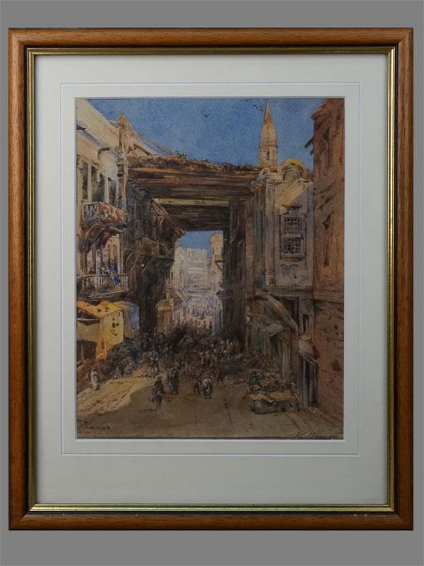 Н.Высоцкий, «Каир», бумага, акварель, 29,3 23см (в окне)