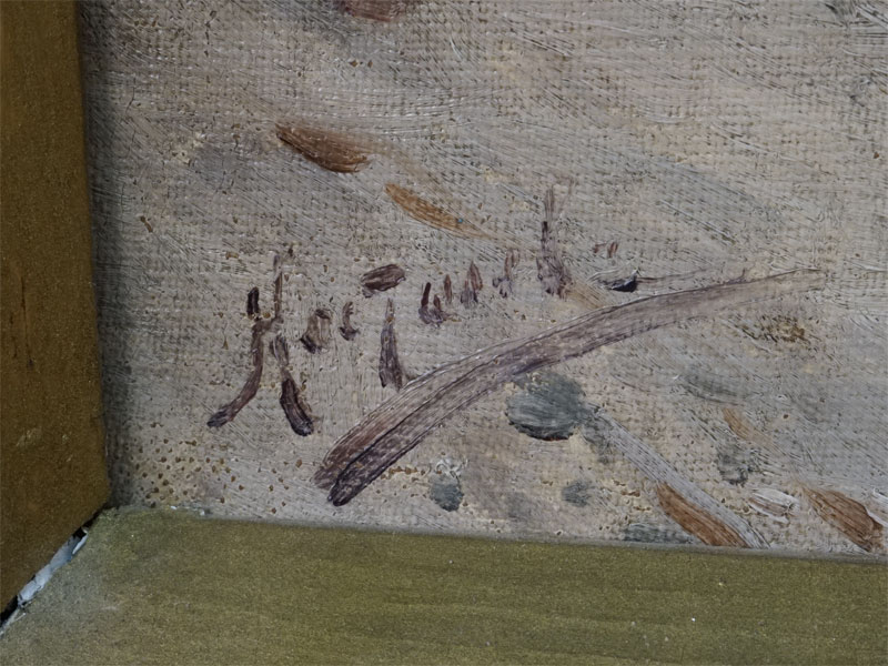 «Морской пейзаж», холст, масло, XIX век, 28,5 × 39,5см