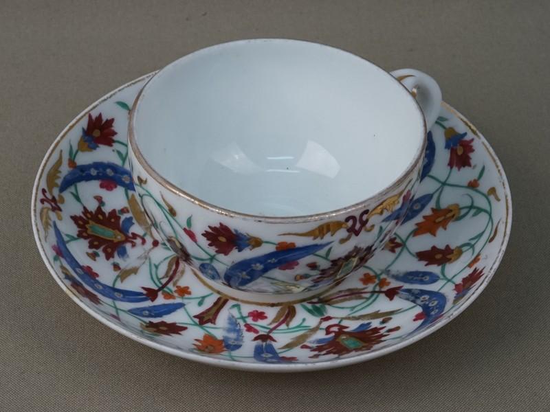 Чайная пара, фарфор, роспись. Завод Гарднера, XIX век
