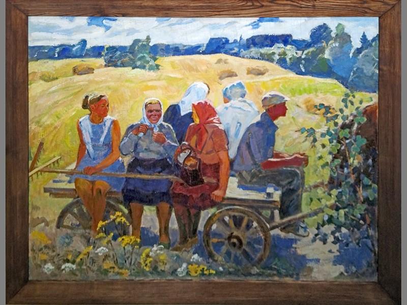 Б.Манаков, «Домой с сенокоса», холст, масло, 134 × 170см.