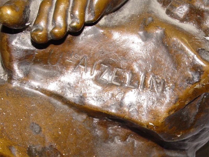 «Диана-охотница с борзой», бронза, литье, патинирование, середина XIX века, высота 96см