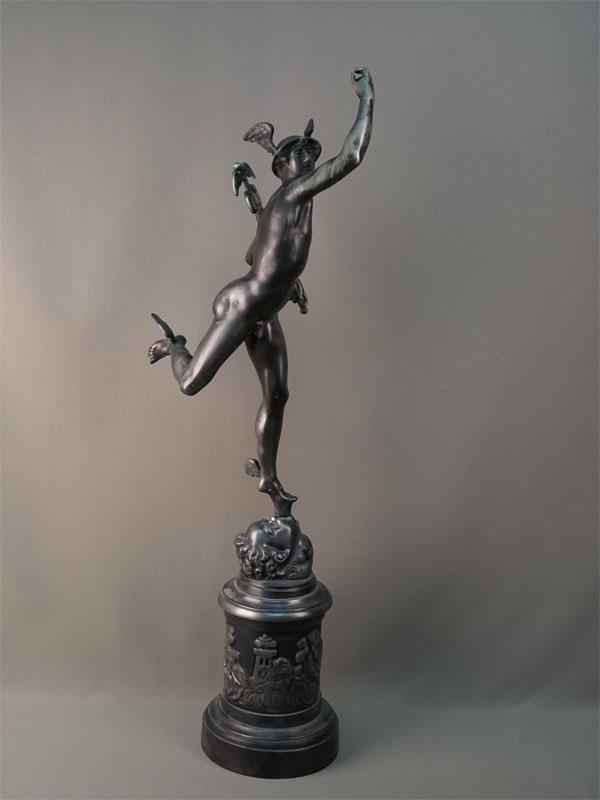 Скульптура «Меркурий», чугун. Касли, конец XX века, высота 83см