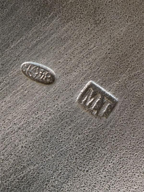 Подстаканник в стиле модерн, «Маки», серебро 84 пробы, гравировка, общий вес 176,86г., мастер М.Тарасов