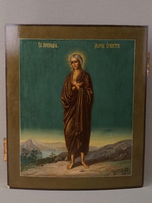 Икона «Святая Преподобная Мария Египетская», дерево, смешанная техника,   XIX век, 31 × 27см